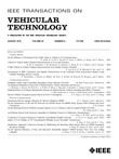 IEEE Transactions on Vehicular Technology: Volume 65, Number 7