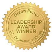 Green Power Leadership Award Winner - U.S. Department of Energy